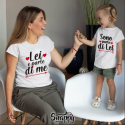 """Coppia di T-Shirt Magliette Mamma E Figlio / Figlia Idea Regalo Festa Della Mamma """"parte di me"""""""