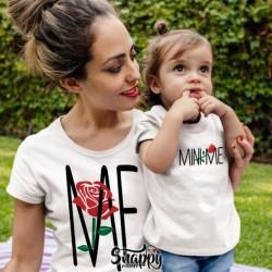 """Coppia di T-Shirt Magliette Mamma E Figlio / Figlia Idea Regalo Festa Della Mamma """"ME,MINI ME"""""""