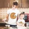 """Coppia di T-Shirt Magliette Mamma E Figlio / Figlia Idea Regalo Festa Della Mamma """"PIZZA"""""""