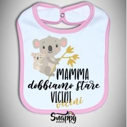"""Bavaglino bavetta idea regalo festa della mamma """"KOALA VICINI VICINI"""""""