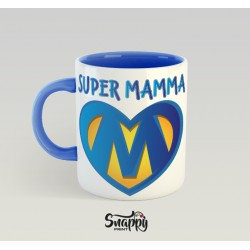 """Tazza personalizzata idea regalo festa della mamma """"SUPER MAMMA"""""""