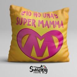 """Cuscino quadra d'arredo idea regalo per la festa della mamma """"SUPER MAMMA"""""""