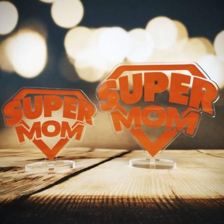 """Targa in Plexiglass Idea Regalo Festa della Mamma """"Super Mom"""""""