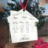 Casetta famiglia addobbo natalizio in plexiglass idea regalo natale