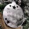 Pallina famiglia addobbo natalizio in plexiglass idea regalo natale