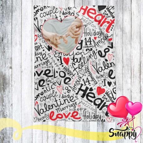 Plaid personalizzato con foto HEART