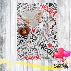 Plaid personalizzato con foto HEART THREE