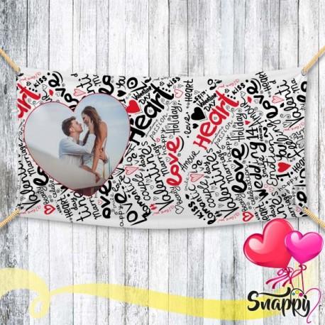 """Striscione personalizzato con foto """"HEART"""""""
