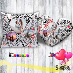 Cuscino personalizzato con foto 40X40 HEART THREE